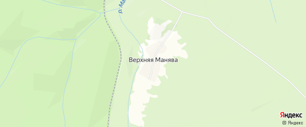 Карта деревни Верхней Манявы в Башкортостане с улицами и номерами домов