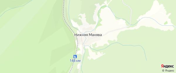 Карта хутора Нижней Манявы в Башкортостане с улицами и номерами домов
