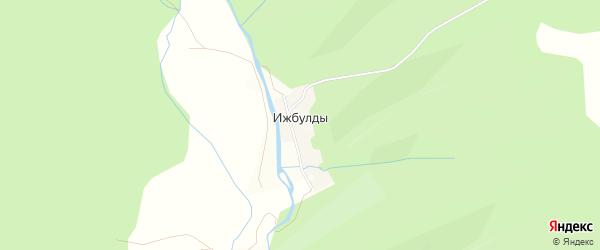 Карта деревни Ижбулды в Башкортостане с улицами и номерами домов