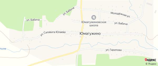 Улица С.Юлаева на карте деревни Юмагужино с номерами домов