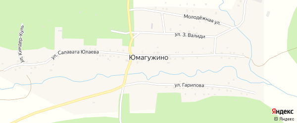 Улица Р.Гарипова на карте деревни Юмагужино с номерами домов