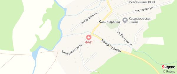 Кашкаровская улица на карте села Кашкарово с номерами домов