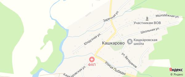 Юлдузная улица на карте села Кашкарово с номерами домов