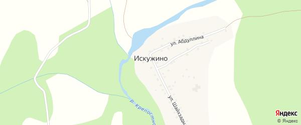 Улица Ш.Бабича на карте села Искужино с номерами домов