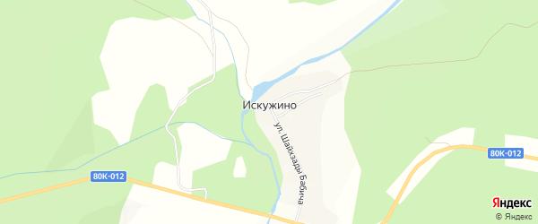 Карта села Искужино в Башкортостане с улицами и номерами домов