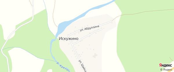 Мечетная улица на карте села Искужино с номерами домов