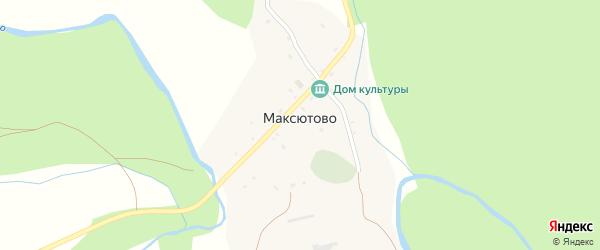 Улица С.Юлаева на карте деревни Максютово с номерами домов