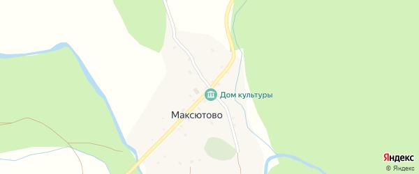 Улица Искужина на карте деревни Максютово с номерами домов