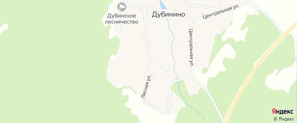 Лесная улица на карте села Дубинино с номерами домов