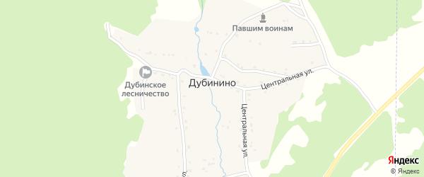 Дачная улица на карте села Дубинино с номерами домов