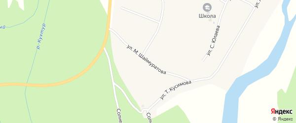 Улица Шаймуратова на карте деревни Кагарманово с номерами домов