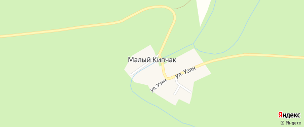 Молодежная улица на карте деревни Малого Кипчака с номерами домов