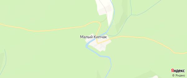 Карта деревни Малого Кипчака в Башкортостане с улицами и номерами домов