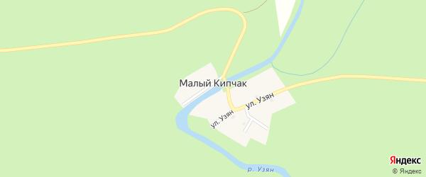 Улица Узян на карте деревни Малого Кипчака с номерами домов