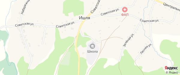 Школьная улица на карте села Ишля с номерами домов