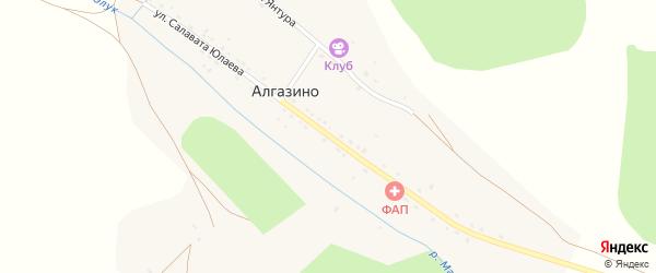 Улица С.Юлаева на карте деревни Алгазино с номерами домов