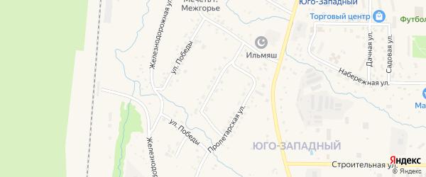 Улица Лесозаготовителей на карте Межгорья с номерами домов