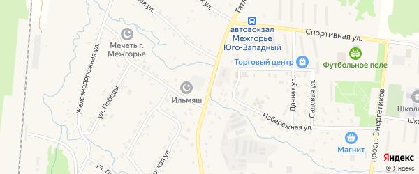 Татлинская улица на карте Межгорья с номерами домов