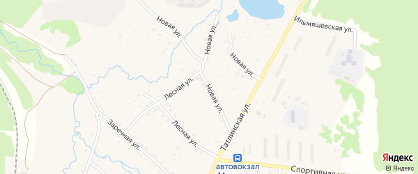 Новая улица на карте Межгорья с номерами домов