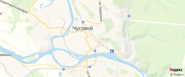 Карта Чусового с районами, улицами и номерами домов
