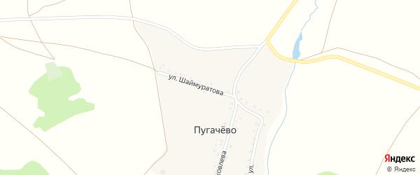 Улица Шаймуратова на карте деревни Пугачево с номерами домов