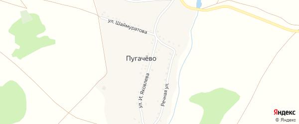 Улица И.Яковлева на карте деревни Пугачево с номерами домов