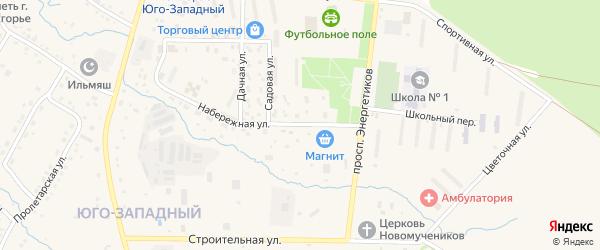 Садовая улица на карте Межгорья с номерами домов