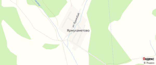 Карта деревни Ярмухаметово в Башкортостане с улицами и номерами домов
