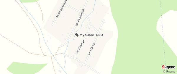 Улица Буранбай на карте деревни Ярмухаметово с номерами домов