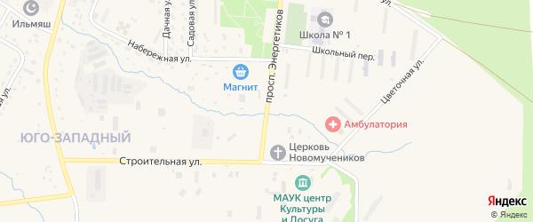 Проспект Энергетиков на карте Межгорья с номерами домов