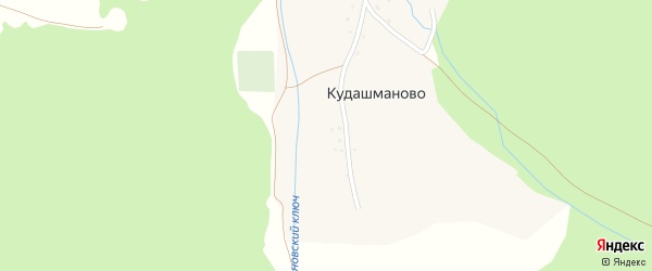 Улица Салавата Юлаева на карте деревни Кудашманово с номерами домов