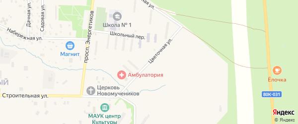 Цветочная улица на карте Межгорья с номерами домов