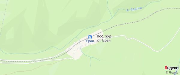 Карта разъезда Ерала в Челябинской области с улицами и номерами домов