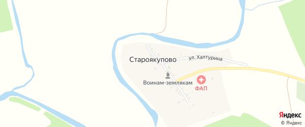 Школьная улица на карте деревни Староякупово с номерами домов
