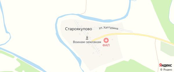 Улица И.Дильмухаметова на карте деревни Староякупово с номерами домов