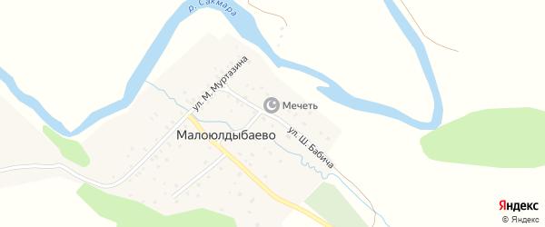 Улица Ш.Бабича на карте деревни Малоюлдыбаево с номерами домов