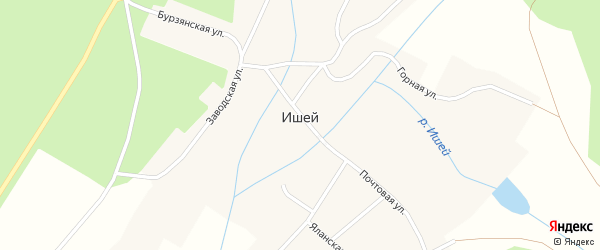 Куктакинская улица на карте села Ишей с номерами домов