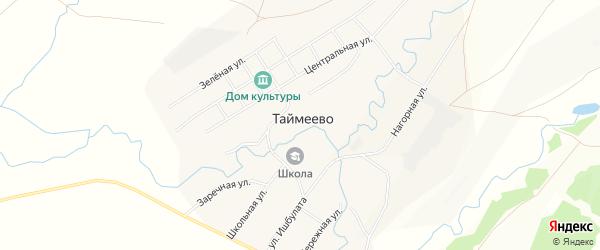 Карта села Таймеево в Башкортостане с улицами и номерами домов