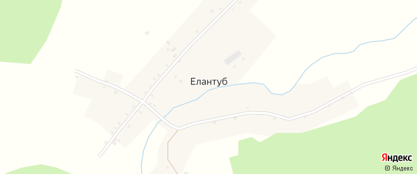 Школьный переулок на карте деревни Елантуба с номерами домов