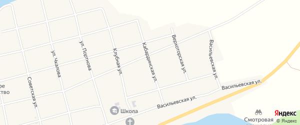 Кабардинская улица на карте села Узяна с номерами домов