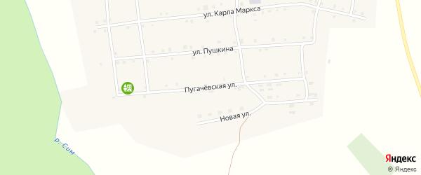 Пугачевская улица на карте села Серпиевки с номерами домов