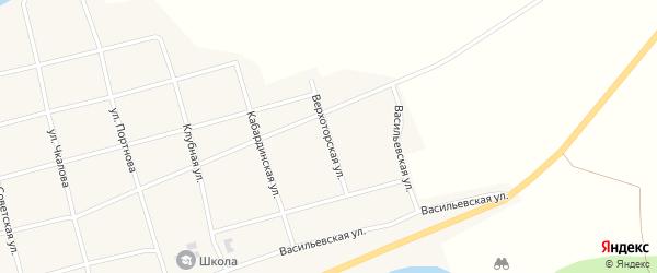 Верхоторская улица на карте села Узяна с номерами домов