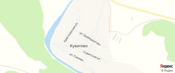 Школьная улица на карте деревни Куватово с номерами домов