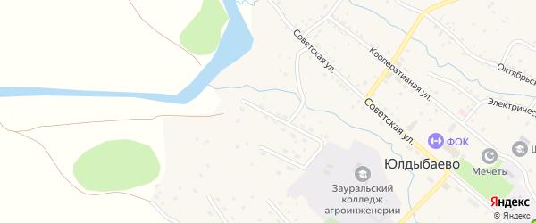 Заречная улица на карте села Юлдыбаево с номерами домов