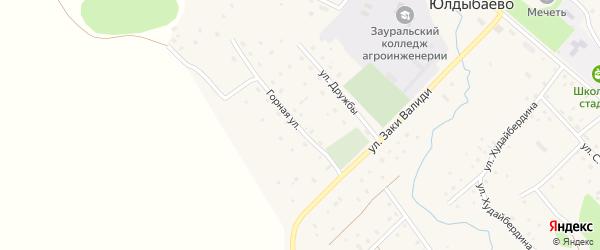 Горная улица на карте села Юлдыбаево с номерами домов