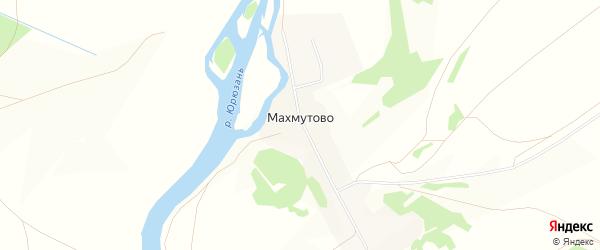 Карта деревни Махмутово в Башкортостане с улицами и номерами домов