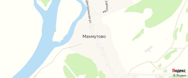Центральная улица на карте деревни Махмутово с номерами домов