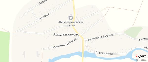 Улица Сукташ на карте села Абдулкаримово с номерами домов