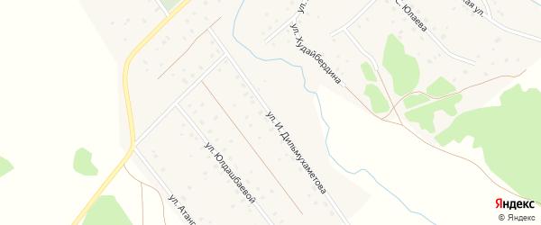 Улица И.Дильмухаметова на карте села Юлдыбаево с номерами домов
