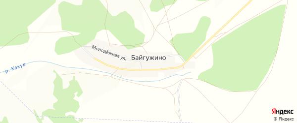Карта деревни Байгужино в Башкортостане с улицами и номерами домов